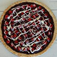Gluten Free Cherry Chocolate Cookie Tart Recipe