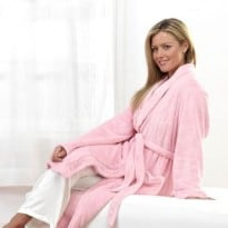 Brookstone Spa Comfort Robe (pink) -2