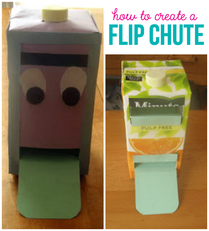 How to Create a Flip Chute - Awesome step by step tutorial for creating a flip chute learning tool. It's a fun learning tool for little ones to learn!