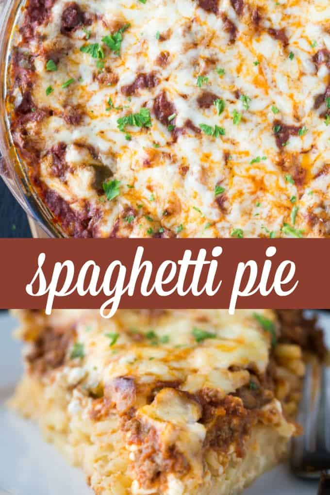 Spaghetti Pie - hearty, cheesy and delicious!