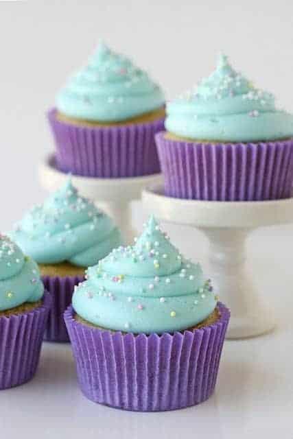 Gorgeous Purple Cupcakes