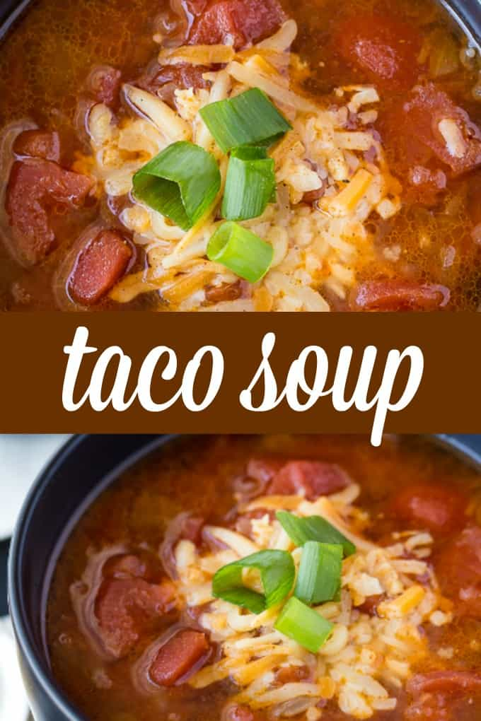 Taco Soup - A delicious, low carb meal with all the great flavours of tacos we love!