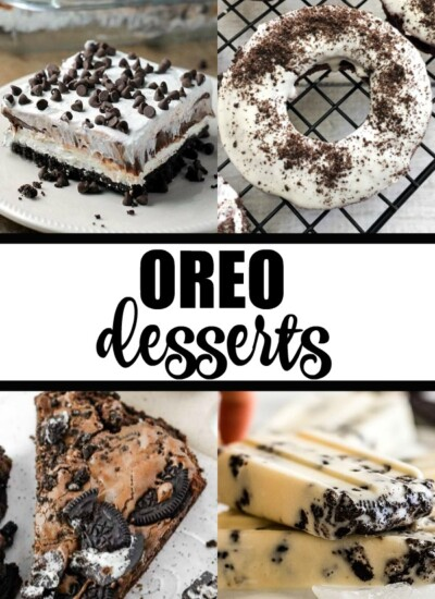 Oreo Desserts - So much chocolatey deliciousness in one list! Enjoy the sweet flavor of Oreo cookies that everyone loves.
