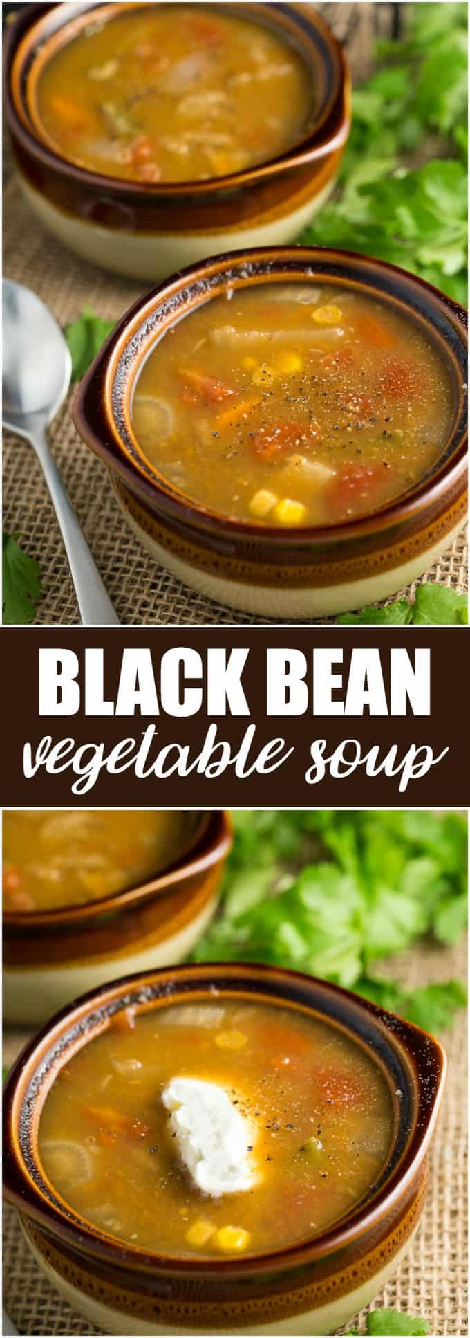 Black Bean Vegetable Soup - Hearty, healthy and delicious!