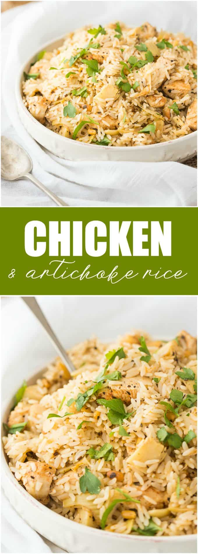 Chicken & Artichoke Rice - An easy meal your family will love!