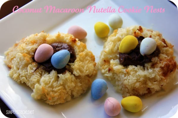 Coconut Macaroon Nutella Cookie Nests Recipe - Simply Stacie