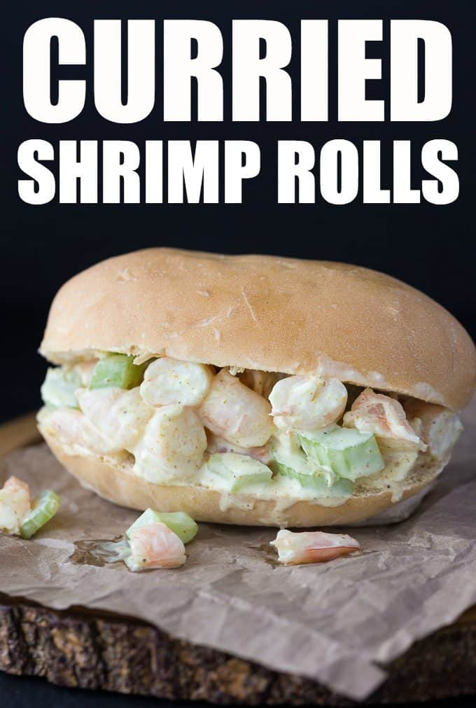 Curried Shrimp Rolls - Creamy with a hint of spicy, this delicious sandwich hits the spot for lunch.