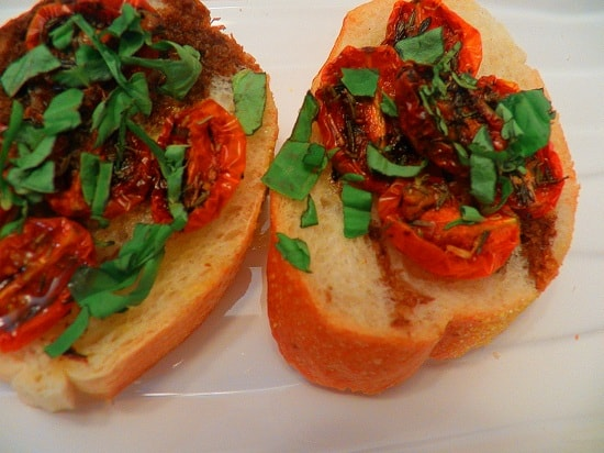 Roasted Grape Tomato and Basil
