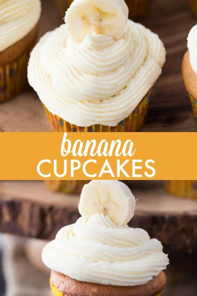 Banana Cupcakes - Sweet, tender and full of yummy banana flavour!