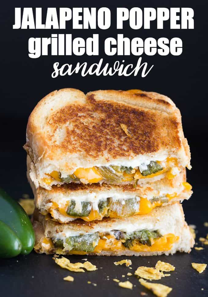 Jalapeno Popper Grilled Cheese Sandwich - Simply Stacie