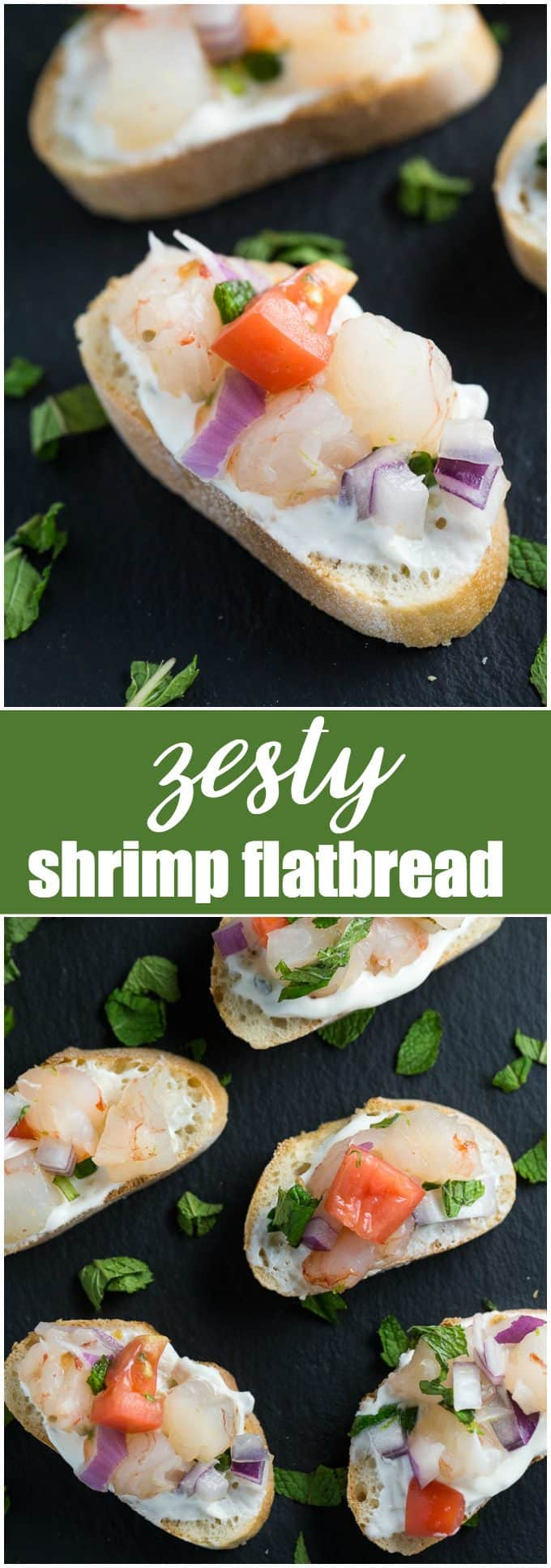 Zesty Shrimp Flatbread - A fresh and spicy appetizer that will delight your tastebuds!