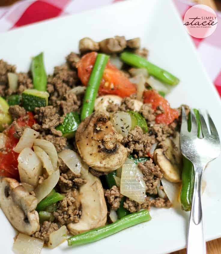Garden Vegetable Beef Skillet Recipe Simply Stacie