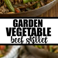 Garden Vegetable Beef Skillet - Garden Vegetable Beef Skillet Recipe - a one pan meal made with fresh veggies, spices and ground beef!