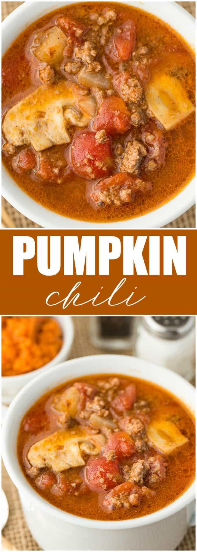 Pumpkin Chili - A unique, flavorful twist on chili for fall!