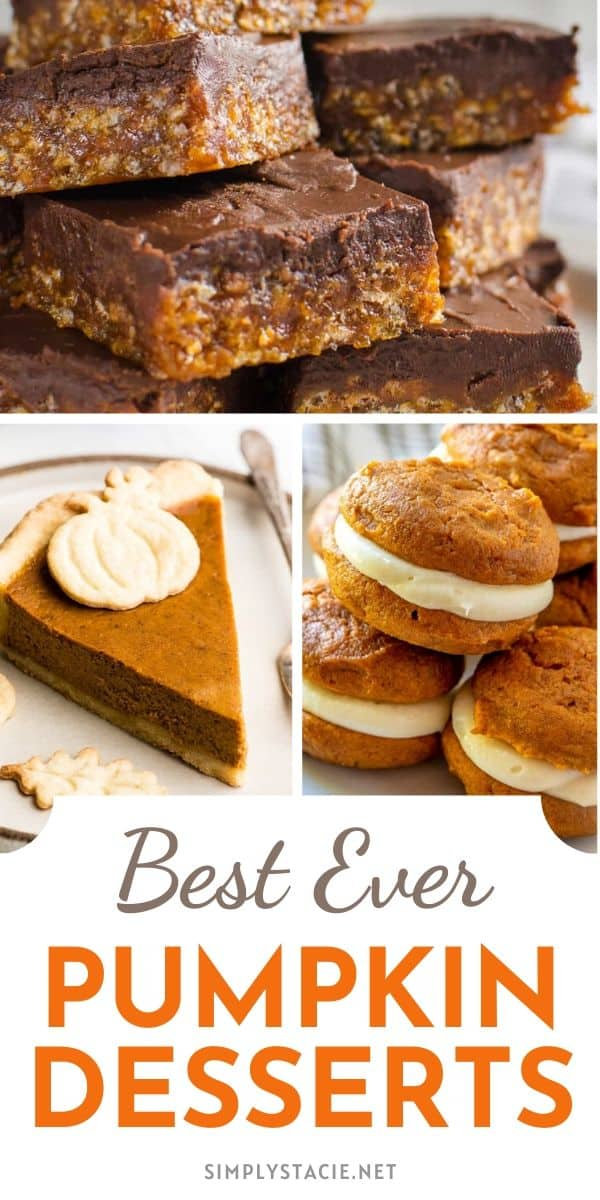 Best Ever Pumpkin Desserts - In this Pumpkin Desserts collection, you'll find cakes, pies, cupcakes, brownies, cookies, donuts, whoopie pies, streusel bread, and more.