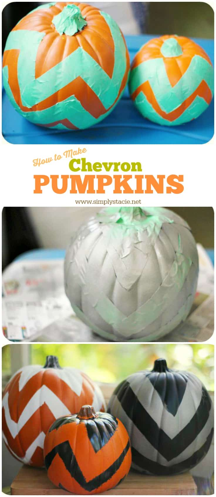 Chevron Pumpkin Tutorial