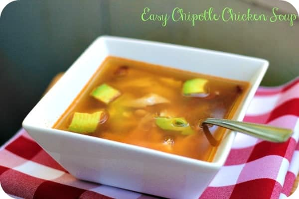 Chipotle Chicken Soup - This is the easiest chicken soup recipe. It has a hint of spice and creaminess from the chickpeas.