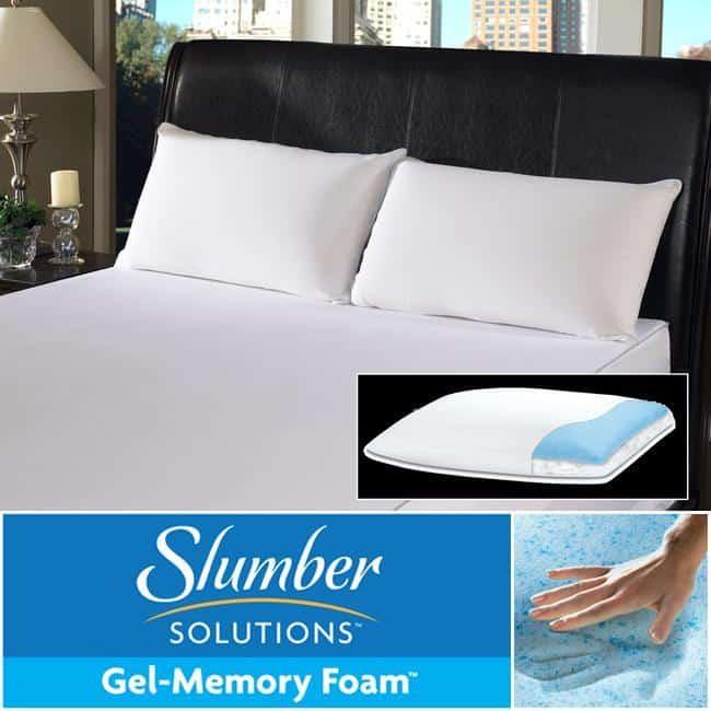 Slumber Solutions Gel Memory Foam Pillow
