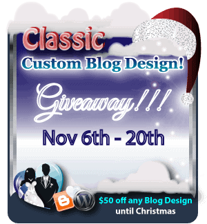 Win a Custom Blog Design