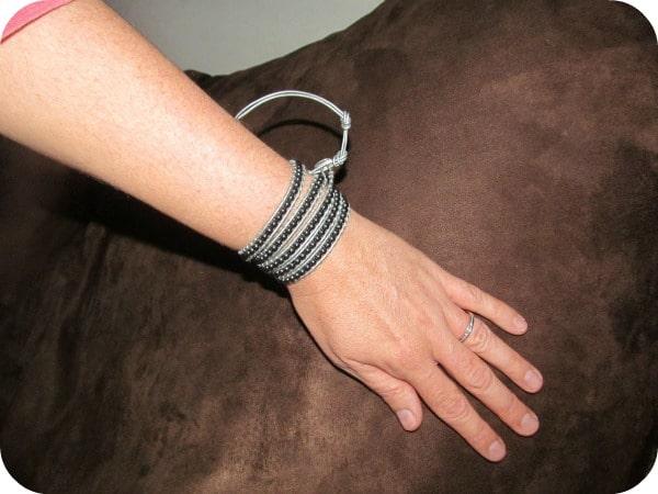 Selene Leather Wrap Bracelet from Beautiful Silver Jewelry
