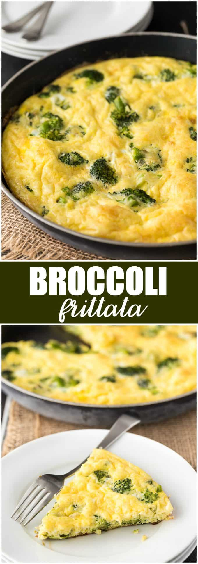 Broccoli Frittata - Easy, healthy and great for a low carb lifestyle.