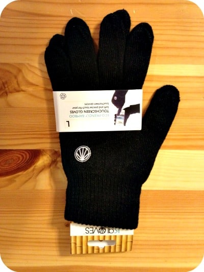 Simple Black Cellphone Gloves