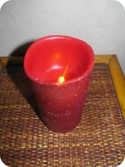 Energizer® LED Flameless Wax Glitter Pillar Candles