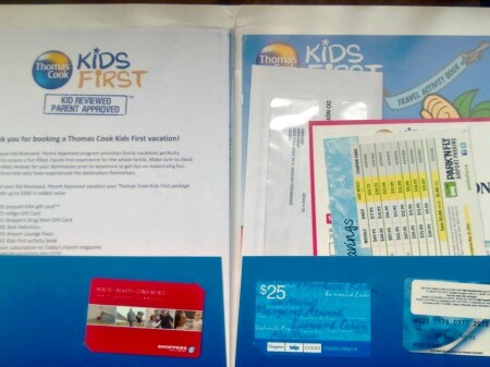 Thomas Cook Kids First Welcome Package