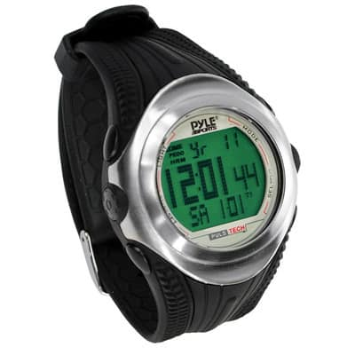 Digital Heart Rate Monitor Watch With Chronograph, Pulse, And Pedometer