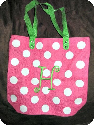 AdvantageBridal.com Personalized Polka Dot Tote Bag