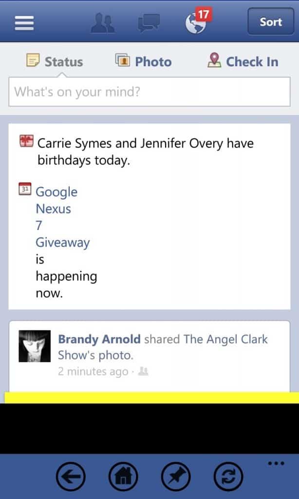 Facebook+ app