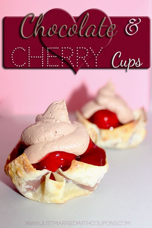 Chocolate Cherry Pie Cups
