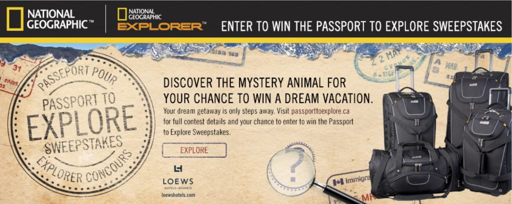 Passport to Explore Sweepstakes
