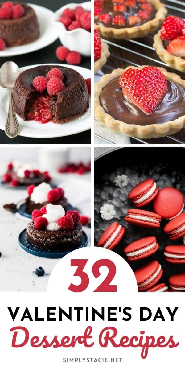 Valentine's Day Desserts - This collection includes deliciously rich and decadent chocolate creations to die for. And, did I mention the oh so good strawberry and raspberry delights? From cakes, cookies, and mousse cups to truffles and pastry hearts, there is a little something for everyone.