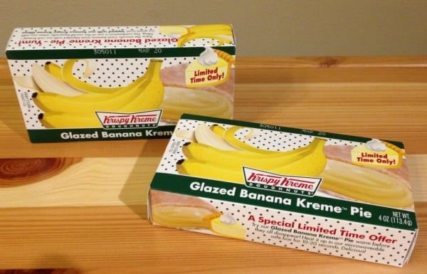 Krispy Kreme Banana KREME Pie Review #BananaKreme