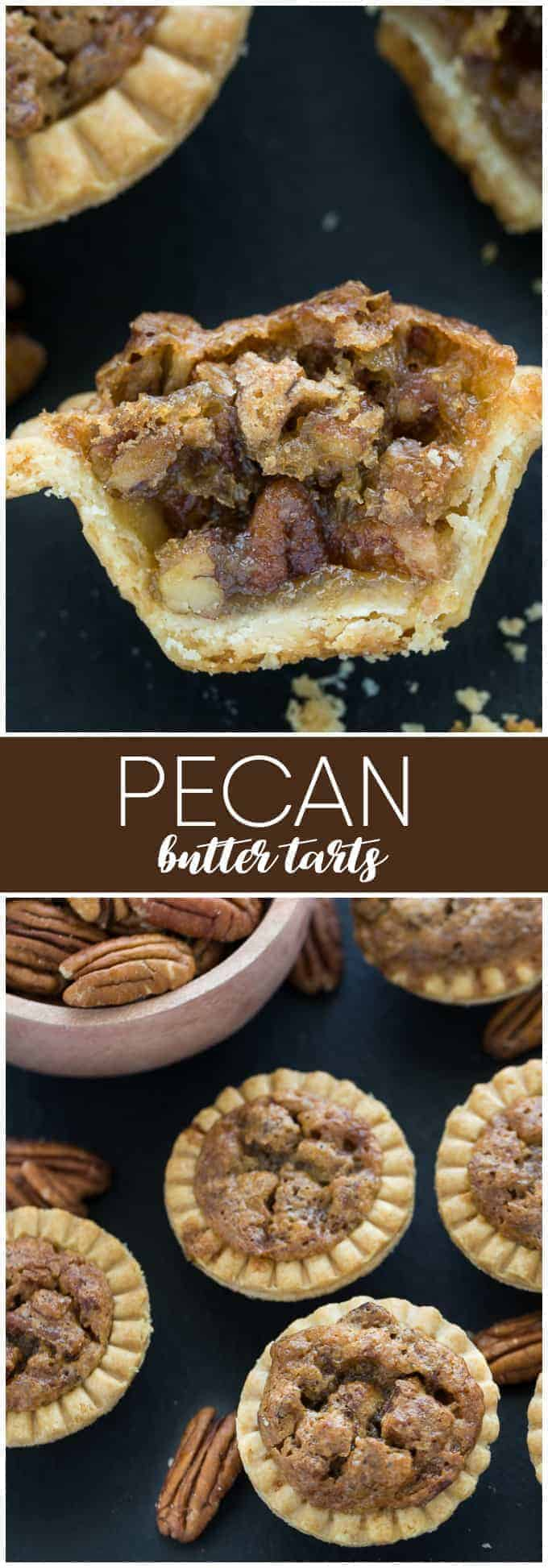 Pecan Butter Tarts - A classic Canadian dessert that are actually quite easy to make. They are sweet, gooey and the perfect treat to end a nice meal.