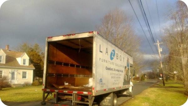 La-Z-Boy Sectional is delivered