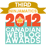 Ninjamatics' 2012 Canadian Weblog Awards winner