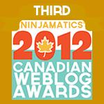 Ninjamatics' 2012 Canadian Weblog Awards winner