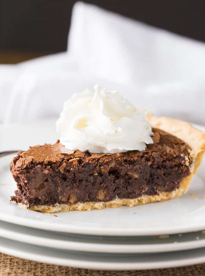 Chewy Chocolate Fudge Pie - With a fudgy brownie-like filling, this is a surefire hit with chocolate lovers! A decadent dessert - perfect for a holiday or special occasion.