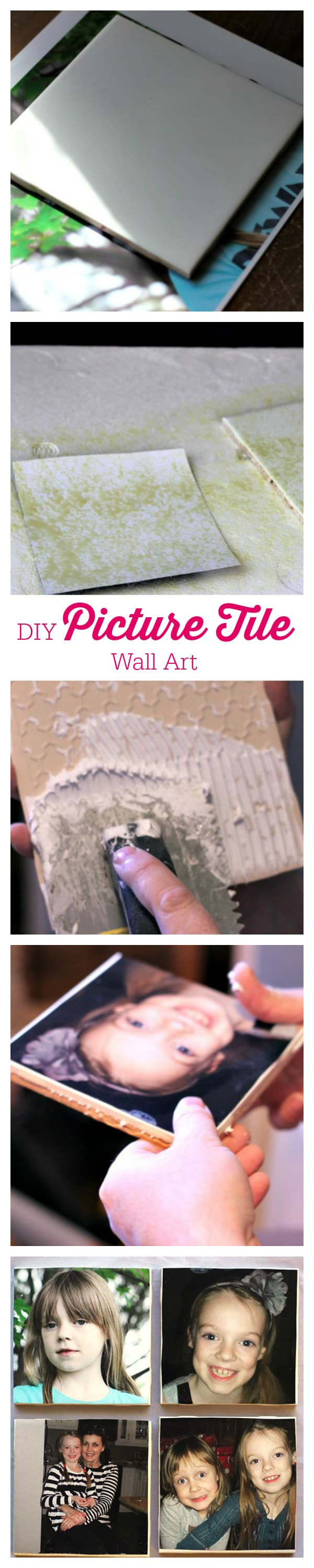 DIY Picture Tile Wall Art