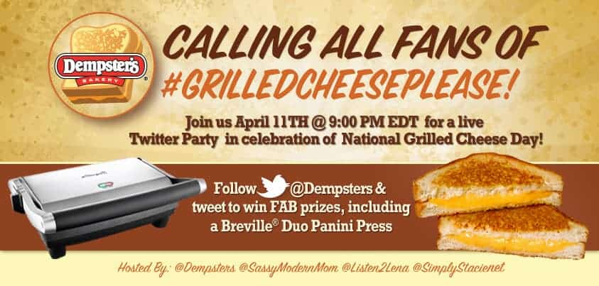 Dempster's #GrilledCheesePlease Twitter Party