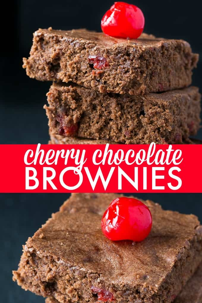 Cherry Chocolate Brownies - Rich and sinfully sweet brownies packed with luscious cherries!