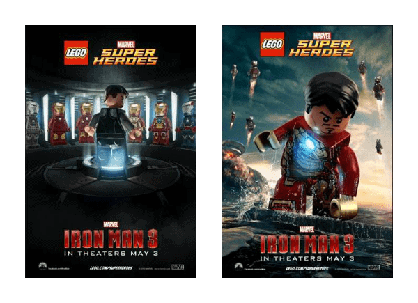 Iron Man 3 LEGO Posters and LEGO Playsets #IronMan3Event