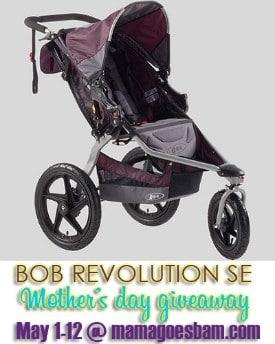 Mother's Day BOB Revolution SE Jogging Stroller Giveaway