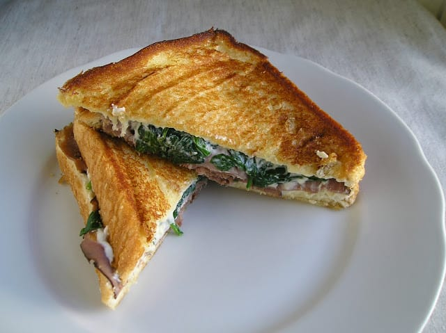 Chicken & Broccoli Grilled Cheese from Cupcakes & Kale Chips
