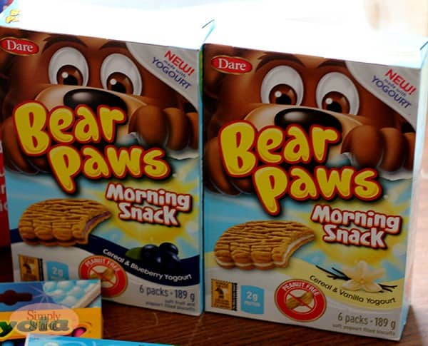 Bear Paws Morning Snacks