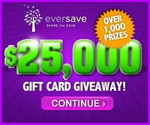 Eversave's $25,000 Gift Card Giveaway (US)