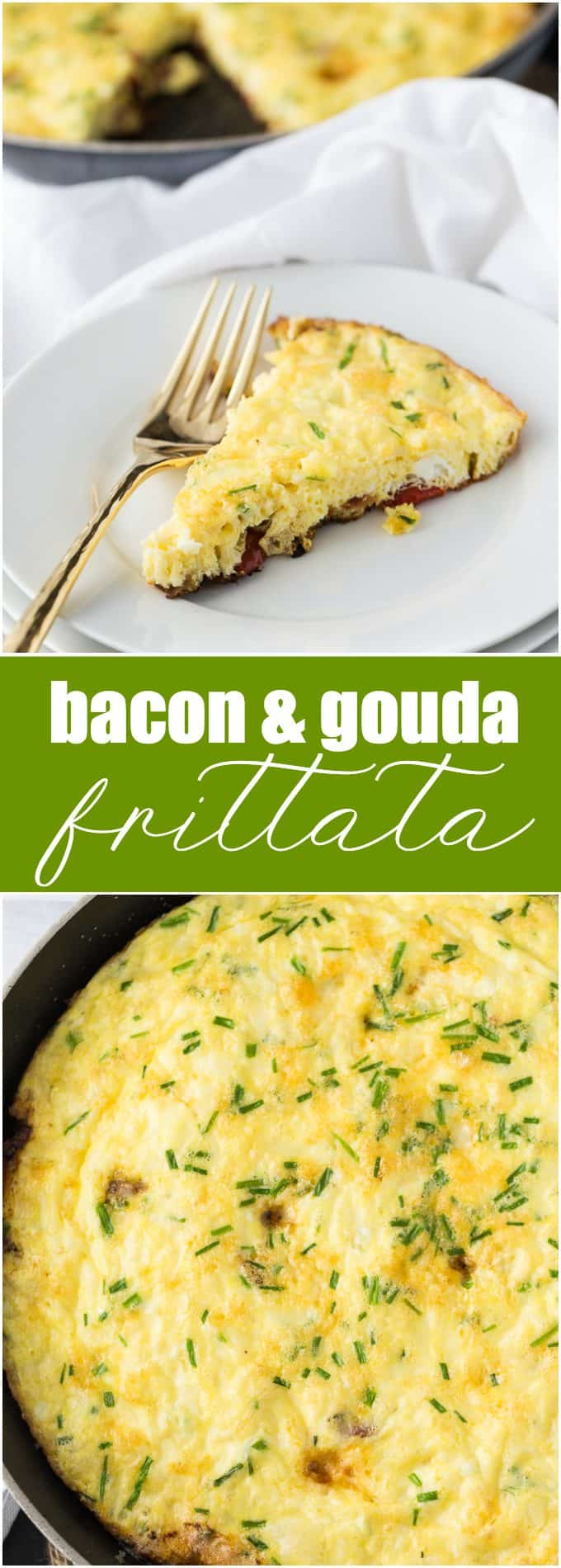 Bacon & Gouda Frittata - Perfect for a low carb brunch!