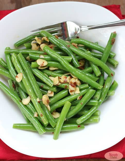 Chili Buttered Green Beans & Almonds